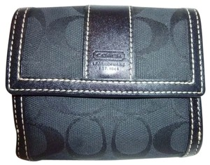 Coach Black Monogram Jacquard Wallet