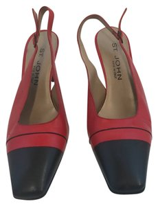ST. JOHN Sandy' Slingback red and black Pumps