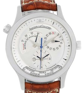 Jaeger-LeCoultre Jaeger Lecoultre Master Geographic Steel Mens Watch 142.8.92
