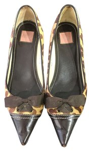Coach Bow Leather Brown Flats