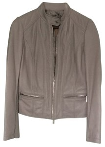 Michael Kors Pearl Grey Leather Jacket