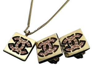 Chanel 02P CC Necklace & Earrings Set 212731