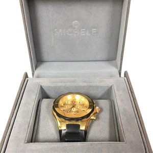 Michele Tahitian Jelly Bean Chronograph Gold Plated Stainless Steel, MEE12F000034