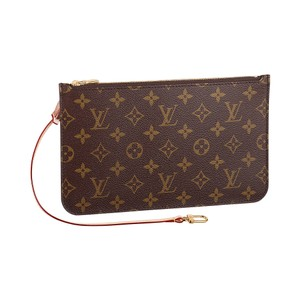 Louis Vuitton Wristlet in Monogram - beige interior