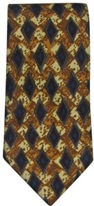 Stacy Adams New Men's CULWELL & SON 100% Silk Brown Beige & Blue Absract Necktie