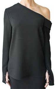 Tibi One Shoulder Top Black
