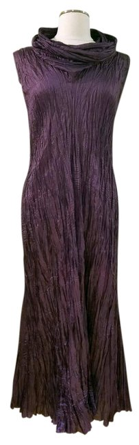 Item - Damson Plum Purple Sleeveless Long Night Out Dress Size 8 (M)
