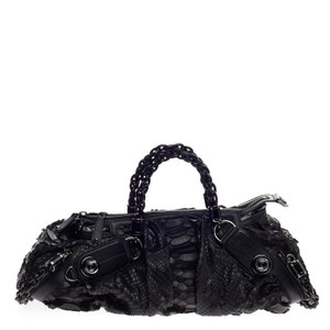 Gucci Python Satchel in Black