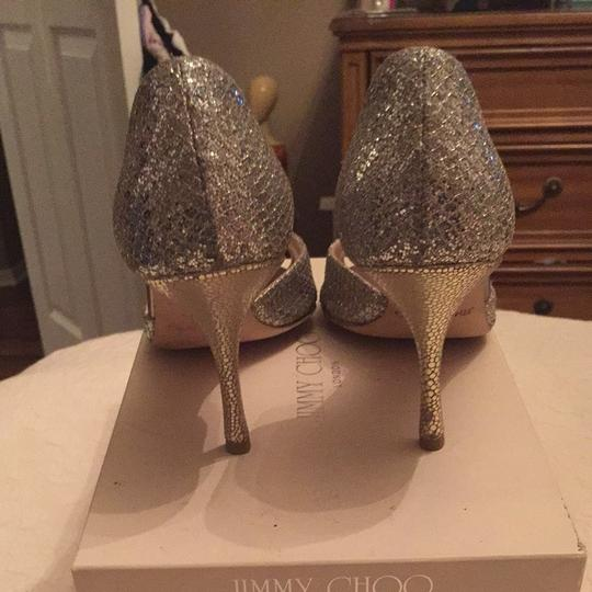 Jimmy Choo Glitter Fabric Sandals