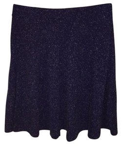 Topshop Mini Skirt Dark blue with white speckles