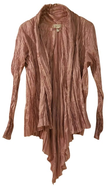 Item - Pink Pagoda Crinkled Pleats Cardigan Jacket Size 8 (M)