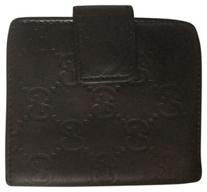 Gucci Gucci Bifold Leather Black Fuchsia Wallet