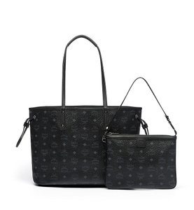 MCM Project Visetos Reversible Handbag Tote in BLACK