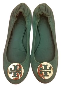 Tory Burch Suede Casual Fall Holiday Green Suede Flats