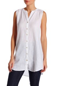 Eileen Fisher Button Down Shirt White