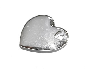Tiffany & Co. Beautiful Heart Charm Pendant Sterling Silver Comes With Complimentary Tiffany Blue Colored Polishing Cloth!!!