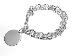 Tiffany & Co. Sterling Silver Bracelet With Round Charm 7