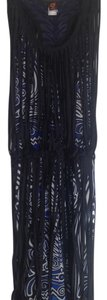 Jean-Paul Gaultier short dress Black with blue/black print underneath Gaultier Soleil Two Layer Summer Never Been Worn on Tradesy