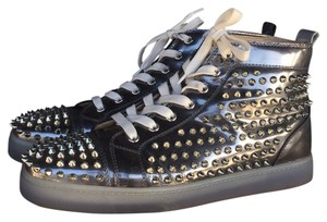 Christian Louboutin silver metallic Athletic