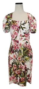 Dolce&Gabbana short dress White, Pink, Green Dolce & Gabbana Floral Gown Cocktail on Tradesy
