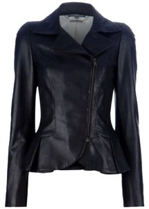 Alexander McQueen Wine Leather Jacket