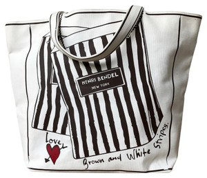 Henri Bendel Canvas Tote in White