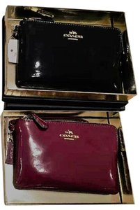 Coach Stunning! Coach Patent Leather Corner Zip Wristlet In Gift Box Choice