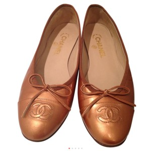 Chanel Gold family Flats