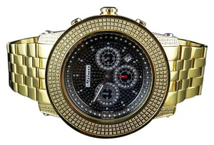 JoJino Mens Joe Rodeo Jojo Jojino 300 Gold Plated Mm Diamond Watch Ct Mj-8033