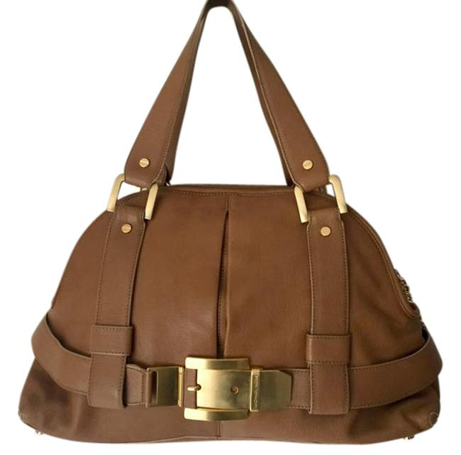 Item - Sutton Belted Brown Leather Satchel