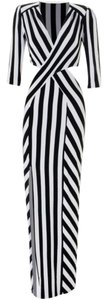 black, white Maxi Dress by Love Culture