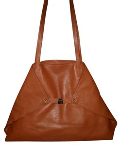 Akris Ai Trapezoid Foldover Tote in Brown