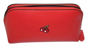 Coach RARE! Limited Edition! Coach PAC-MAN Cherry Cosmetic Case In Watermelo