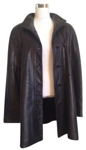 Bod & Christensen Leather Leather Coat Mid-length Made In Canada Couture Leather Jacket