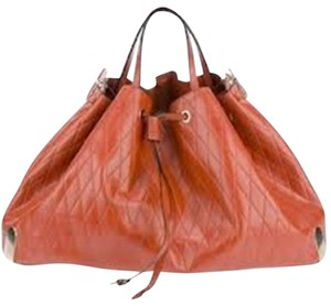 Chloé Chloe Charlie Diamond Tote in Terracota