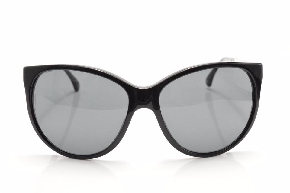 Chanel black miroir collection logo sunglasses tradesy for Collection miroir