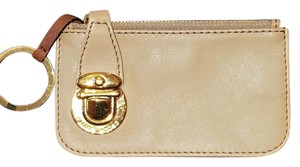 Marc Jacobs Taupe/camel Italy Leather Pushlock Change Purse