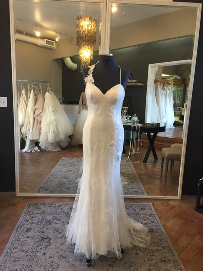 Watters Ivory Lace Tropea Casual Wedding Dress Size 8 (M)