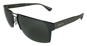 Prada Aviator - Black Metal & Logo, Sunglasses - Unisex