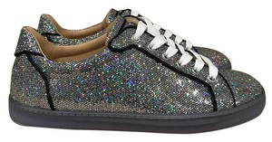 Christian Louboutin Seava Flat Glitter Sneaker silver Athletic