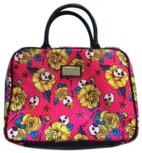 Betsey Johnson Make Up Mac Chanel Luggage Keep All Keepall Pink Travel Bag