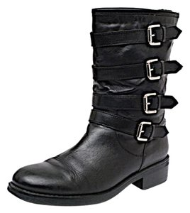 Aquatalia by Marvin K. Motorcycle Boot Black Boots