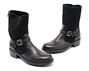 Aquatalia by Marvin K. Shearling Mid-calf Black Boots