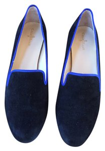 Cole Haan Suede Loafer Two-tone Leather Smoking Slipper Black Flats