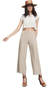Reformation Wideleg Trouser Classy Cropped Pants