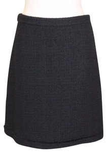 J.Crew Tweed Wool Blend Business Wear To Work Skirt BLACK