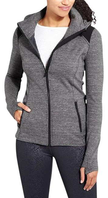 Item - Charcoal Grey Heather/ Black Stronger Hoodie Activewear Outerwear Size 10 (M)