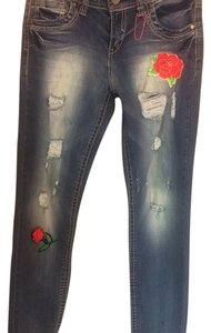 Almost Famous Clothing Skinny Jeans-Distressed