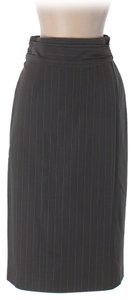 Nanette Lepore Pencil Gray Pinstripe Skirt