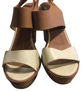 Dolce Vita white and tan Wedges